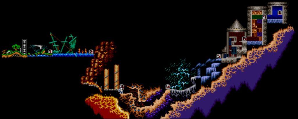 Carte de Super Ghouls 'n Ghosts sur SNES